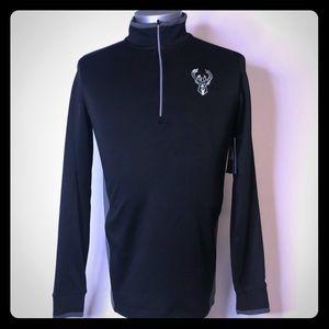 NWT Nike Golf Milwaukee Bucks quarter zip mens XS